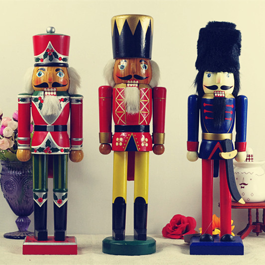 European Style Nutcracker Soldiers Manualidades Vintage Home Decor Wooden Christmas Decoration China Mainland