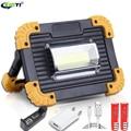 100 W COB lámpara de trabajo LED linterna portátil a prueba de agua 4-modo de emergencia foco portátil recargable reflector para luz de Camping
