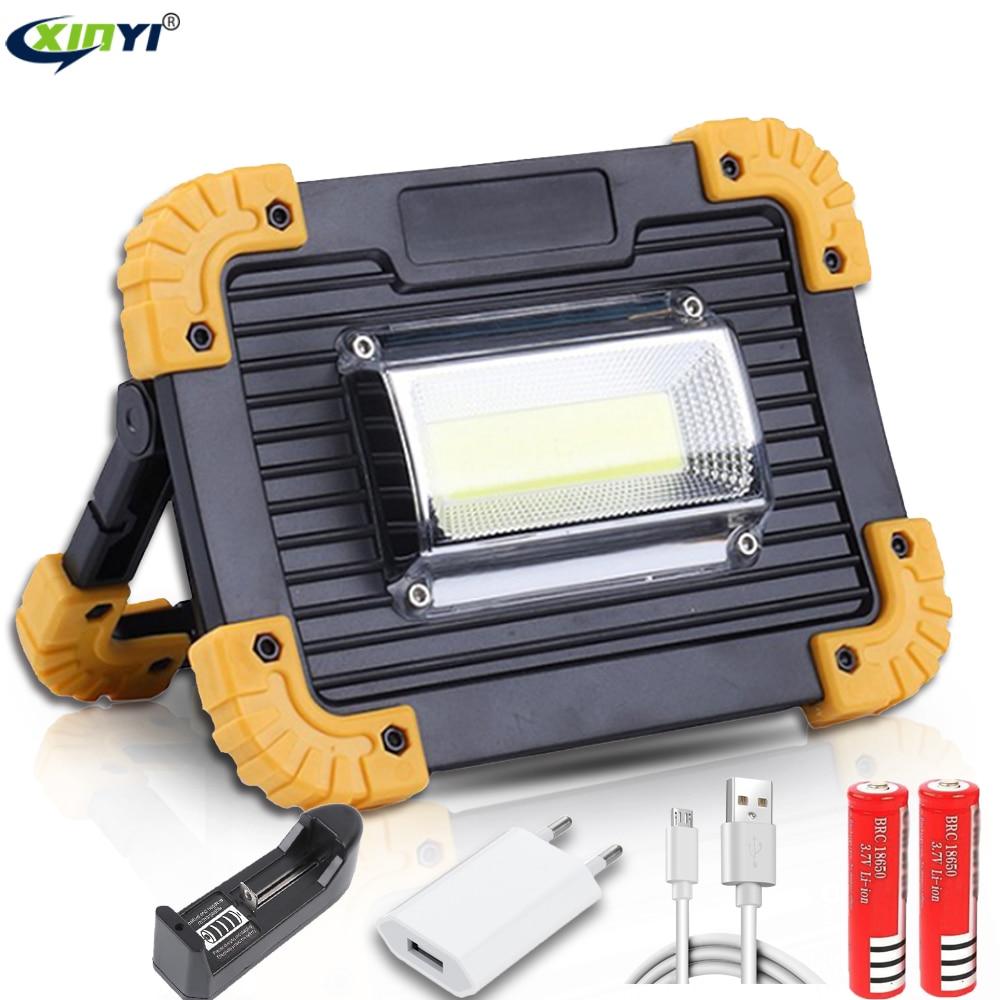 Lampe de travail de l'épi 100W LED lanterne portative imperméable à l'eau projecteur portatif de secours de 4 modes projecteur Rechargeable pour la lumière de Camping