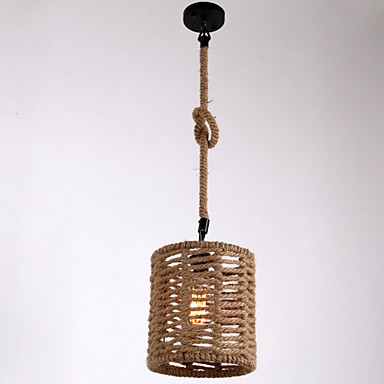 Nordic Loft Style Hemp Rope Droplight Edison Pendant Light Fixtures For Dining Room Hanging Lamp Vintage Industrial Lighting loft style metal water pipe lamp retro edison pendant light fixtures vintage industrial lighting dining room hanging lamp