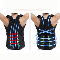 Back Support Waist Brace Adjustable Posture Corrector Pain Relief Orthopedic Lumbar Protection Belt Spine Spinal Braces