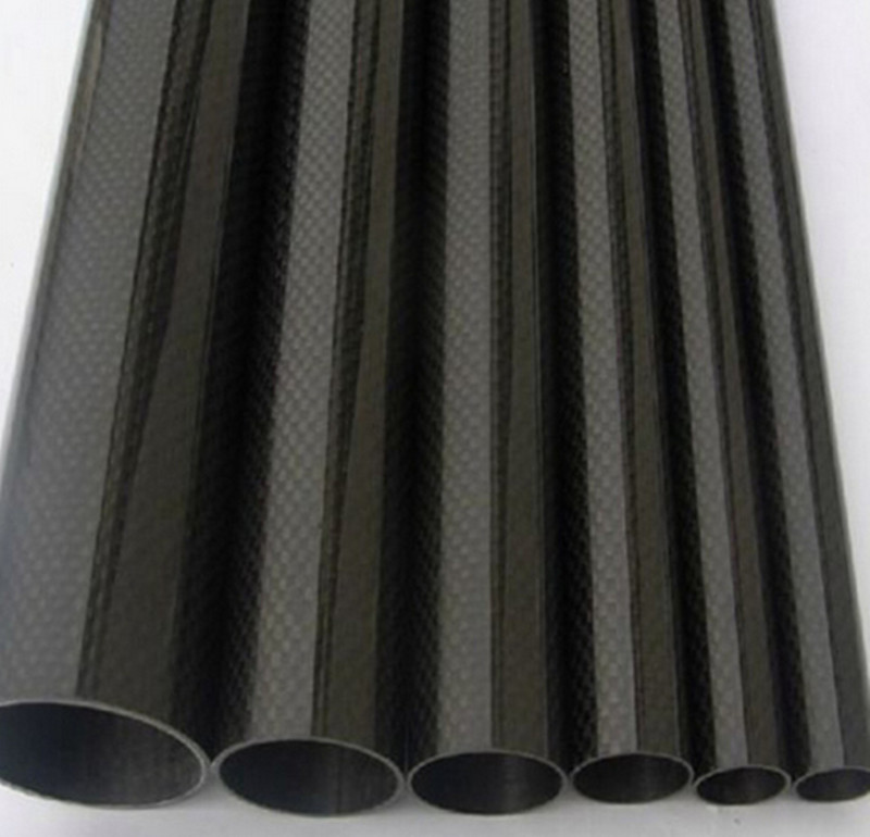 2pcs lot free shipping Black Carbon Fiber Tube 12mm x10mm 500mm long 3K Glossy Surface For