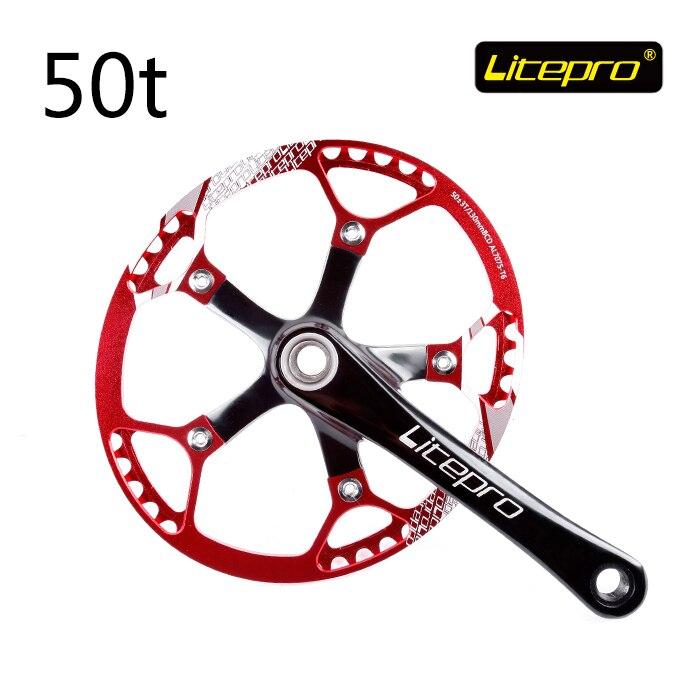 Litepro 20 Inch Folding Bike Chainwheel 50T Plus Or Minus 3 Integration Ellipse Chainwheel Bicycle Parts|Bicycle Crank & Chainwheel| |  - title=