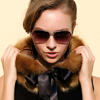 New Square Faux Fur Collar Fake Collar Black Rose Brown Faux Fox Fur Silk Ribbon Decoration