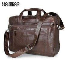 UniCalling luxury genuine leather large men bag premium cow leather business bag leather laptop bag 17 inch fashion luggage bag