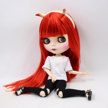 ICY Neo Blythe Little Devil Doll Red Hair Jointed Body 30cm