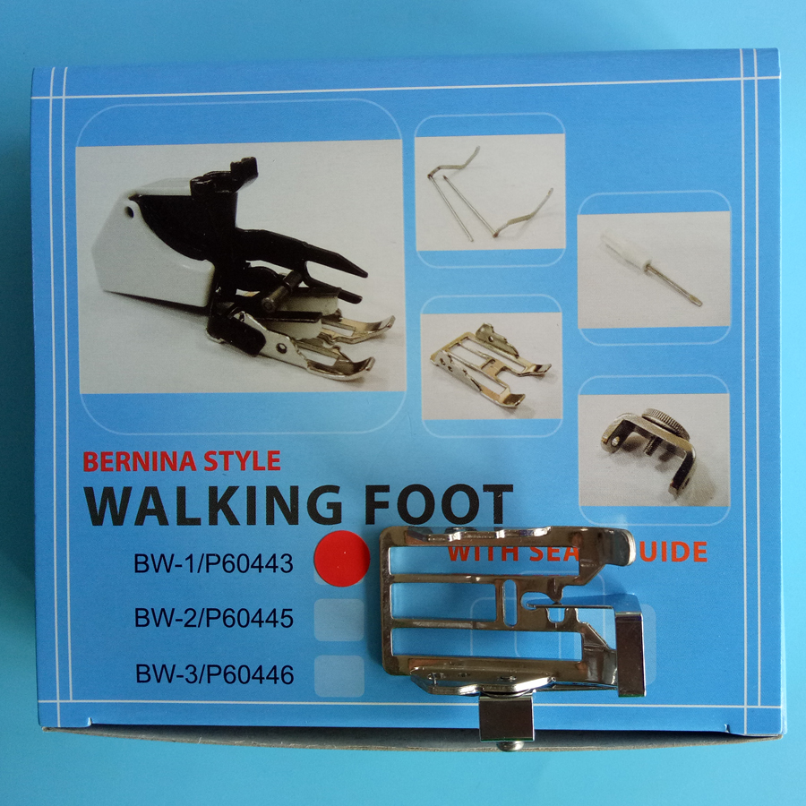 Three Changeable Sole Walking Foot Seam Guide for Bernina NEW STYLE Sewing Machine P60443D