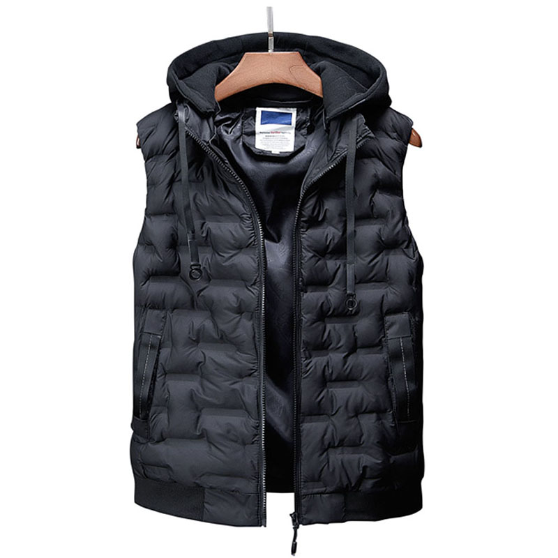 29d2a18f47a 2018 New Brand Men Winter Jackets Casual Thick Vest Men Sleeveless Hoodie  Coats Male Warm Casual Slim Waistcoat Colete Masculino-in Vests   Waistcoats  from ...