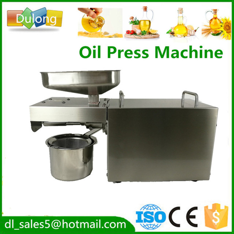 cheap price Stainless steel automatic small seed oil extraction machine cold mini oil press machine for sale household oil press machine cold hot press for peanut small home automatic mini seed oil extraction machine eu stock