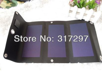 GGX ENERGY Amorphous Silicon Flexible Solar Panel Charger Folding Slim 3W/5V USB Solar Power Phone/Power Bank Charger