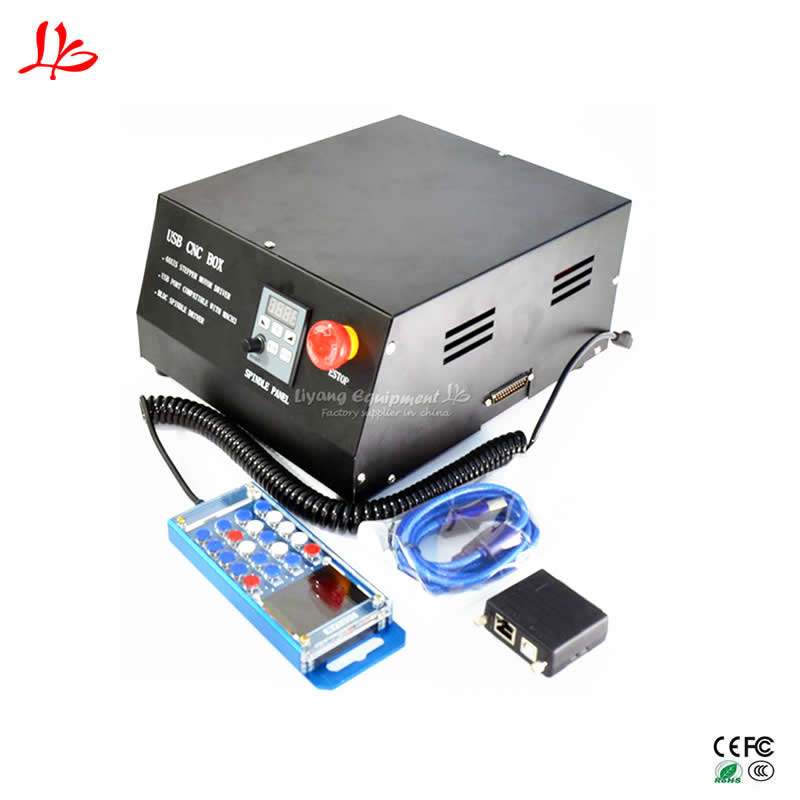 4axis Cnc Mach3 Control Box Dc Brushless Spindle Driver Parallet Port For Engraving Machine Wood Router