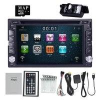 Universal 6 2 2Din Wince 6 0 GPS Navigation Steering Wheel Control Sub Woofer Car Radio
