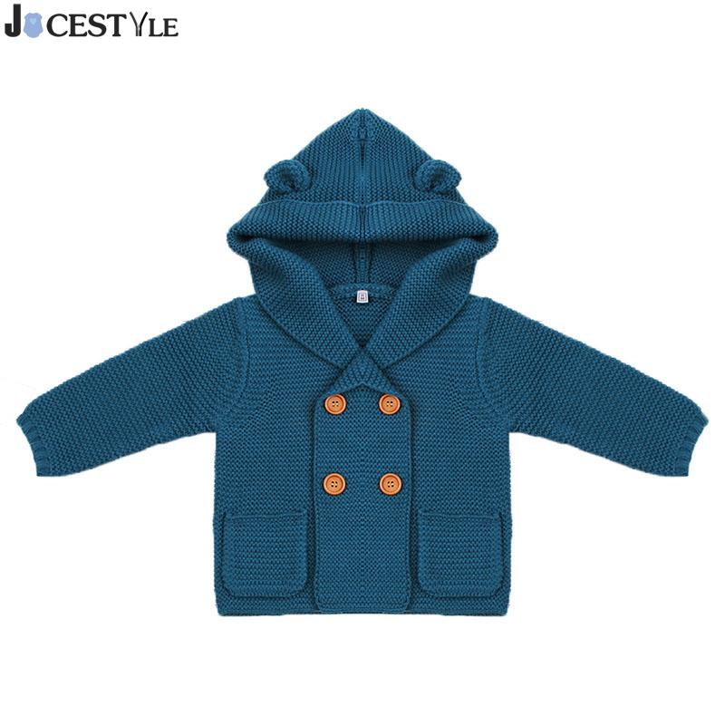 4e59a6850cce Baby Warm Sweaters Boy Girl Cardigan Newborn Boys Winter Cartoon ...
