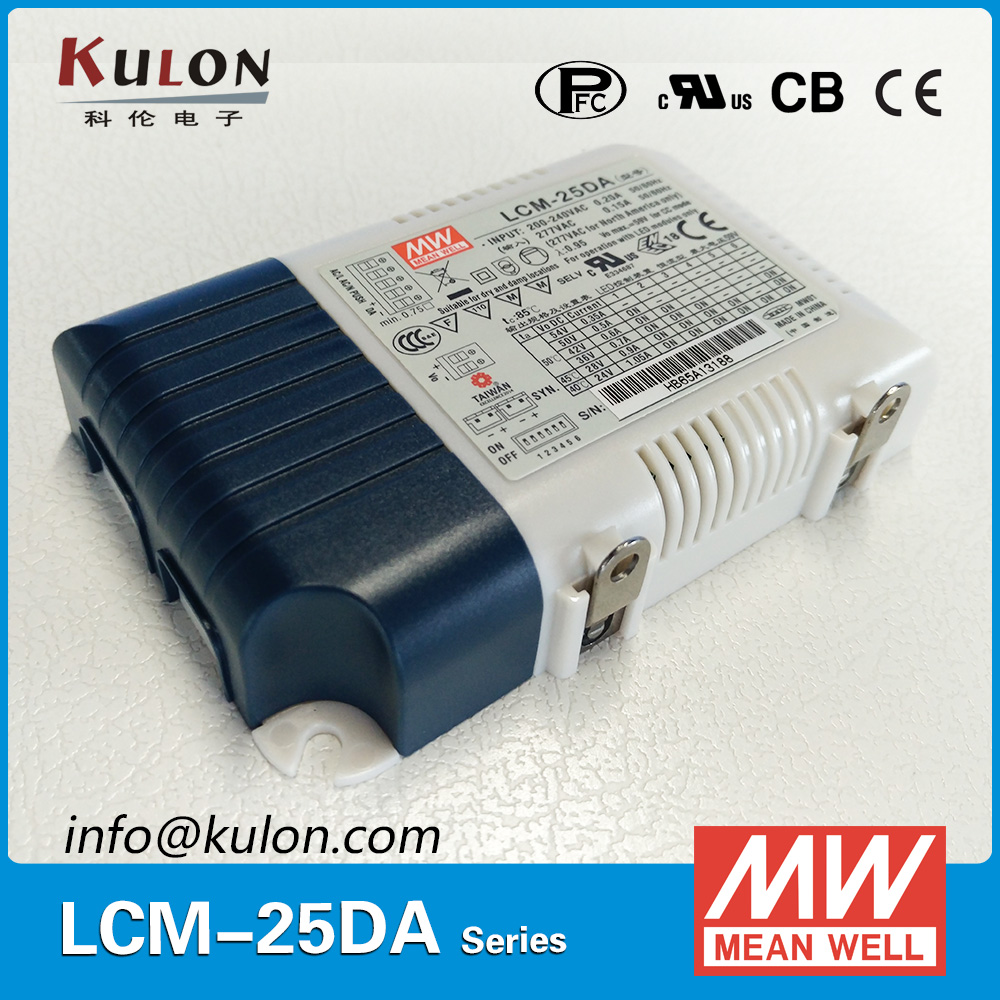 Mean well Power Supply LCM-25DA 25W Multiple Output push dimming with DALI interface for Indoor lighting mean well apc 25 600 waterproof ip67 25w power supply grayish white 100 240v