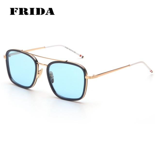FRIDA Nova Praça Retro Thom Browne Óculos De Sol Dos Homens Das Mulheres Do Vintage Casual Eyewear Retro Shades UV400 gafas de sol