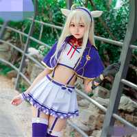 Sistine Fibel Cosplay Costome School Uniform Hot Sale Cos Clothing Skirt Blue Purple And White Color Cosplay Dress