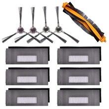 En satış aksesuarları için uyumlu ECOVACS DEEBOT 901 900 robotik vakum, 6 filtre + 2 Set fırça + 1 ana fırça