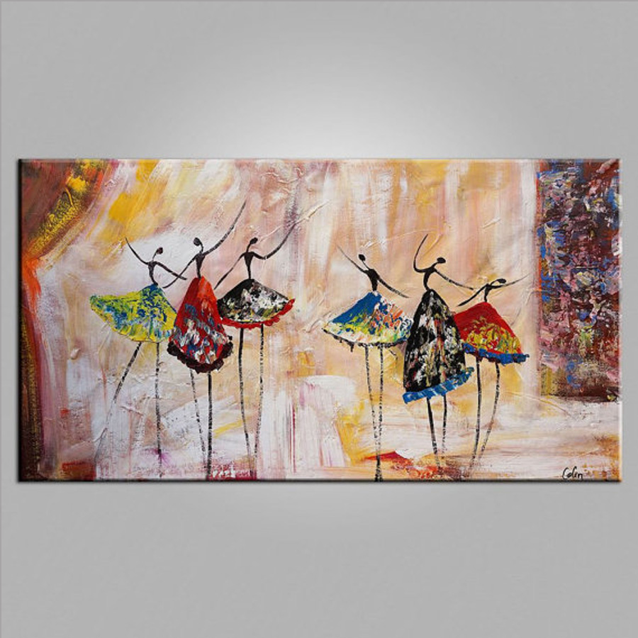 Wall Art Paintings For Living Room Aliexpresscom Buy Abstract Ballet Dancer Oil Painting On Canvas