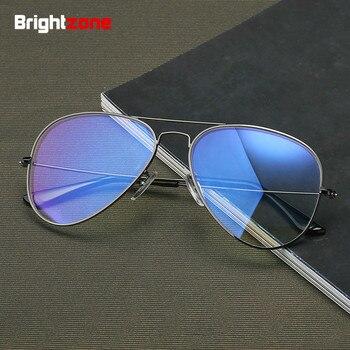 Brightzone restauration Vintage pilote anciennes façons plein jante cadre défense lumière bleue bloquant ordinateur défense lunettes lunettes lunettes