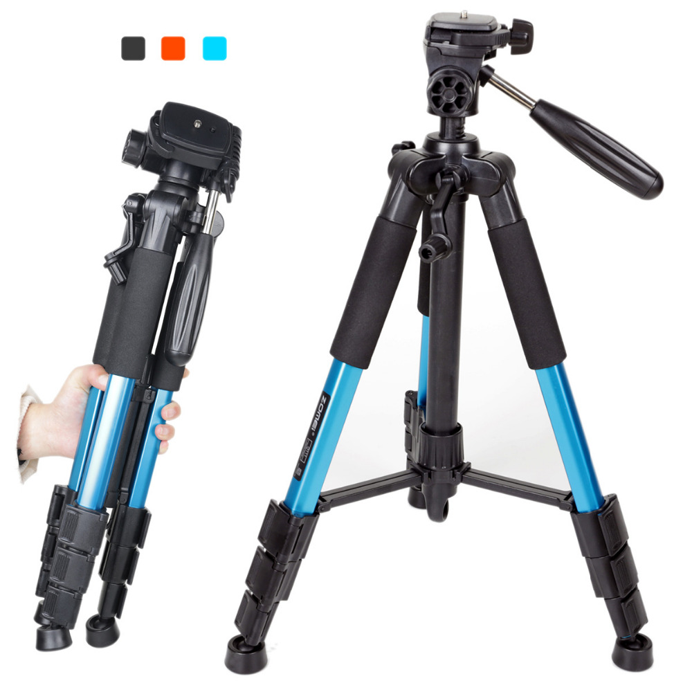 ZOMEI Q111 High Quality Professional Portable Travel Aluminum Camera Tripod&Pan Head for SLR DSLR Digital Camera Three color zomei professional aluminum alloy slr three camera folding portable tripod with ball head bag travel for dslr black q111