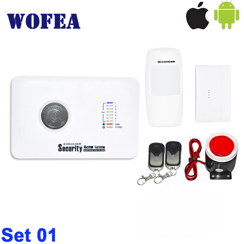 free shipping 3G security home GSM alarm system with English russian language andriod IOS APP control