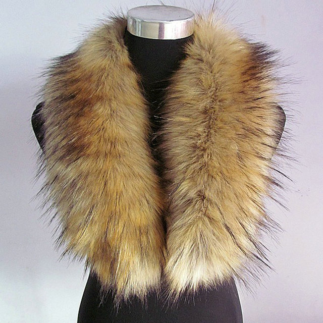 Free shipping On the new 2015 big raccoon fur collar fake fur collar shawl collar fur collar article cap tide female
