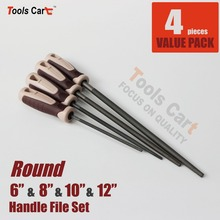 4 Pc Round Hand File Set Carpentry Woodworking Carving Tools in Sizes  R681012-M