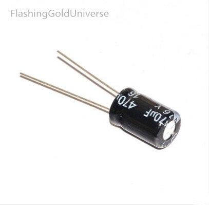 500pcs  470UF 16V 8X12 Aluminum Electrolytic Capacitor best quality New origina