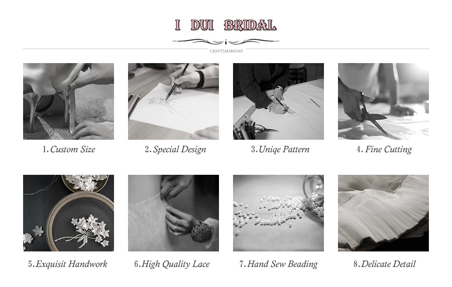 مخصص مطرز الحقيقية الزفاف 10
