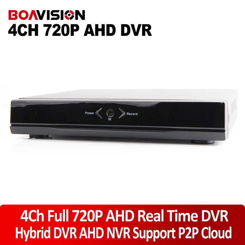 4 Channel Security HD AHD DVR 720P 960H DVR Real Time 4Ch Hybrid DVR NVR For Onvif IP Camera P2P Function For Analog AHD Camera