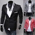 2016 Новая Мода Случайные Люди Blazer Хлопок Тонкий Корея Стиль Костюм Blaser Masculino Мужской Костюмы Куртка Blazer Мужчины Плюс Размер