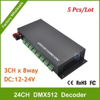 DHL Бесплатная доставка Оптовая продажа 24 CH легко dmx512 диммер контроллер, 24 канала DMX 512 Диммер, 24ch DMX 512 декодер