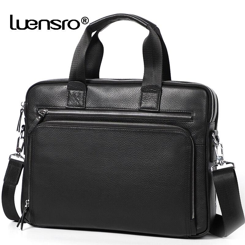 Bagaj ve Çantalar'ten Evrak Çantaları'de Büyük erkek Evrak Çantası Hakiki deri Satchel Çanta Erkek 14 inç laptop çantası Çanta Iş omuz çantaları Evrak Çantası Erkek Çantası'da  Grup 1