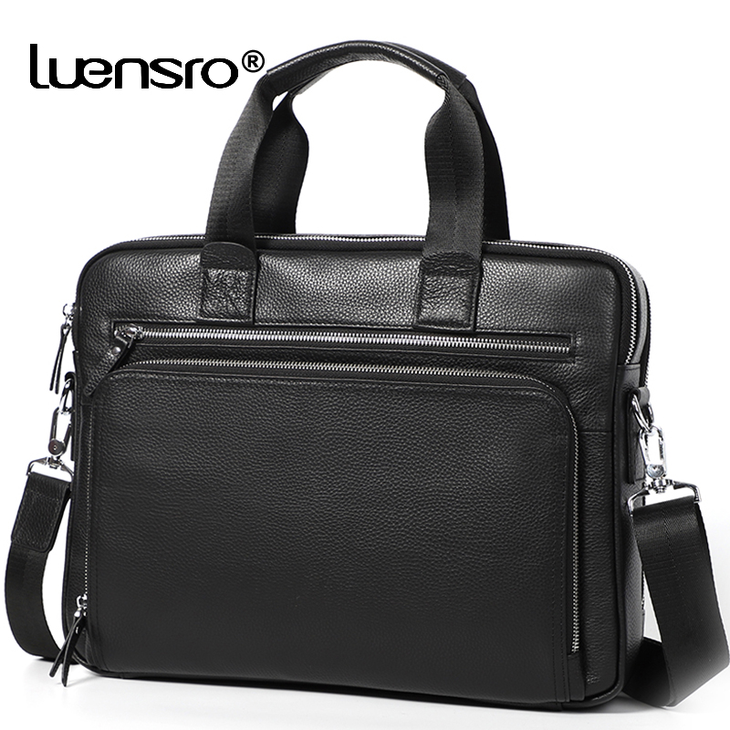 Large Men's Briefcase Genuine Leather Satchel Bags Male 14 Inch Laptop Bag Handbag Business Shoulder Bags Briefcase Men Bag