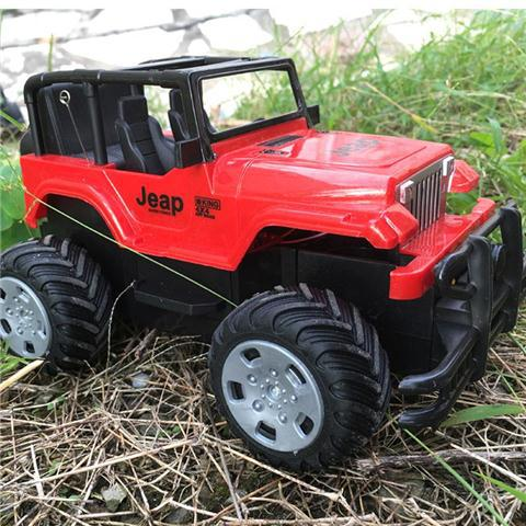 18 Cm Elektrische Rc Auto Afstandsbediening Off-road Jeep Model Auto Speelgoed 8 Km/h Flash Lichten Voertuig Voor Jongens Kids Gift 1031