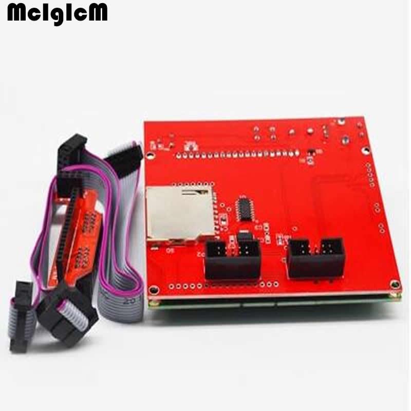 Free shipping high quatity! 3D printer smart controller RAMPS 1.4 LCD 12864 control panel blue screen