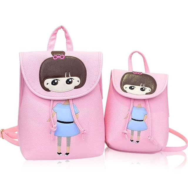 200376375444 2017 fashion school bags for girls waterproof PU leather backpack women kids  bag children schoolbag backpack mochila escolar