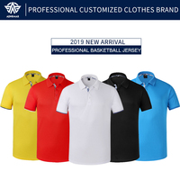 Adhemar breathable basketball jersey for men quick dry t shirt with collar basketball shirt male