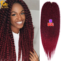 Havana Mambo Twist Crochet Braid Hair 120g/pack 2X Synthetic Kanekalon Senegalese Havana Mambo Twist  Braids Hair