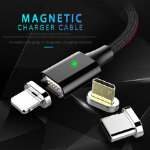 NOHON LED Magnetic Charging Sync Data Cable Lighting For iPhone X 7 8 6 XS MAX Micro USB Type C For Samsung Xiaomi 4 Charge Cord nohon magnetic l shape lighting fast charging cable micro usb type c for samsung xiaomi iphone universal magnet charge cord line