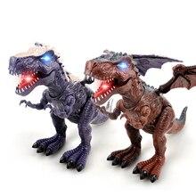 Hot Jurassic World Tyrannosaurus Model Big Plastic Electric Dinosaur Robot Toys Dinossauro Large Action Figure Gifts For Kids big tyrannosaurus