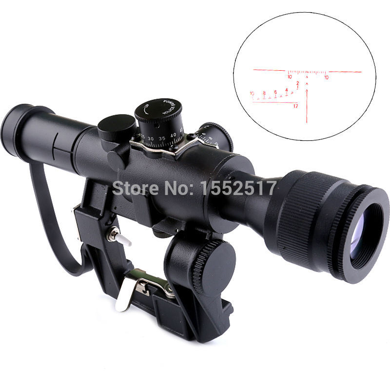 Tactical SVD Dragunov 4x26 Red Illuminated Scope for Hunting Rifle Scope Shooting AK scope tactical 3 5 14x44 rifle scope front retical scope for hunting shooting cl1 0226
