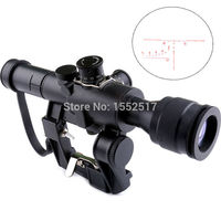 Tactical SVD Dragunov 4x26 Red Illuminated Scope For Hunting Rifle Scope Shooting AK Scope