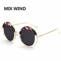 Mix Wind Sunglasses 2016 New Retro Round Women Sunglasses Female Outdoor Tourism Korean Fashion Sunglasses Glasses