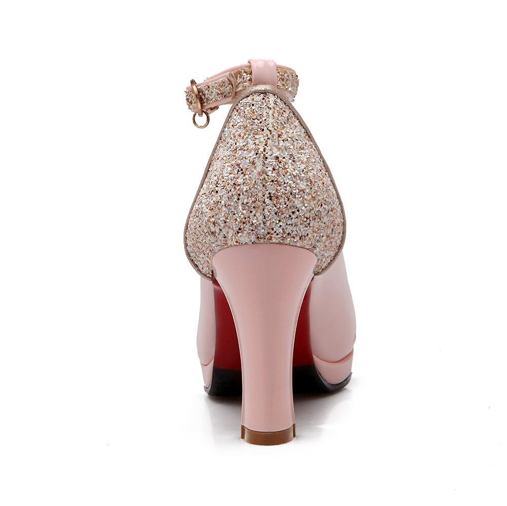 Mode Mary Boucle Robe Carré Dames Plate Talons Beige Chaussures De Partie Pompes Rose Beige Bling Jane vert rose forme Vert tRzxx5Bq8w