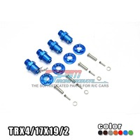 TRAXXAS TRX 4 TRX4 82056 4 Alloy adapters front/rear all can use hex 17mmsix angle /19mm long set TRX4/17X19/2