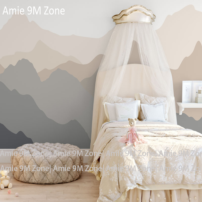 Amie 9M Zone mural wallpaper light cream pink color cloud moutain patter for kid's room wall decor wallpapers mural wall-paper beibehang lovely abc print kid bedding room wallpapers ecofriendly fantasy non woven wall paper children mural wallpaper roll