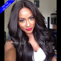 2016 4 x 4 polegada Glueless Silk Top Full Lace Wigs onda brasileiro virgem cabelo Full Lace perucas de cabelo humano para as mulheres negras