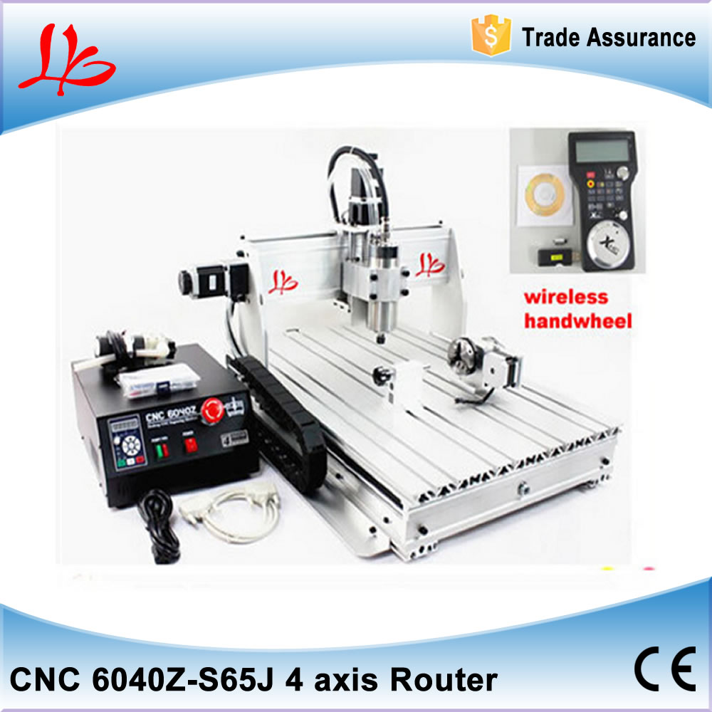 CNC 6040Z-S65J 4 axis engraving machine, CNC 6040 800w Engraver Cutting Milling Machine with wireless handwheel eur free tax cnc 6040z frame of engraving and milling machine for diy cnc router