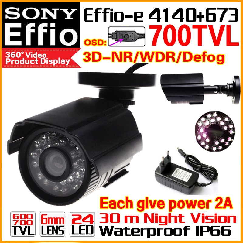 Real 1/3 Sony CCD 700TVL Effioe Mini Hd Surveillance Cctv Camera OSD Menu Waterproof IP66 24led IR Night Vision 30m have Bracket sale with bracket 1 3 sony ccd effio a real 700tvl hd cctv camera osd surveillance products infrared 35m outdoor waterproof ip66